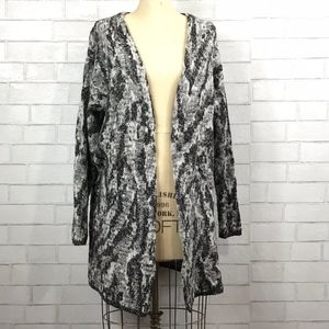 Lucky Brand Wool Knit Open Face Cardigan Sweater
